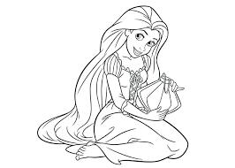 Disney Princess Coloring Pages Rapunzel All Princesses