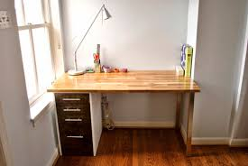 Diy Floating Desk Ikea by Using The Ikea Alex Drawer Unit As Legs And The Hammarp Counter
