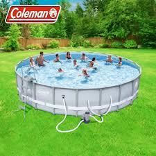 100 Water Truck To Fill Pool Coleman Power Steel 22 X 52 Frame Swimming Set Walmartcom