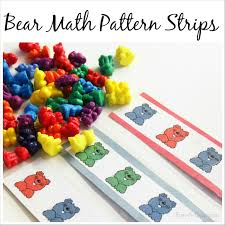 Printable Bear Math Patterns For Preschoolers