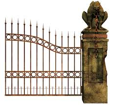 Halloween Cemetery Fence Finials by Graveyard Gate Right Png Stock By Roy3d Deviantart Com On