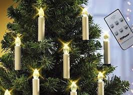 Christmas Lights Top RaceR Battery Powered LED Tree Taper Candles