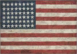 Jasper Johns Flag 1954 55 dated on reverse 1954