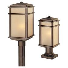 led outdoor post lighting bellacor