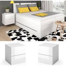 vicco nachttisch charles nachtschrank kommode schlafzimmer weiß