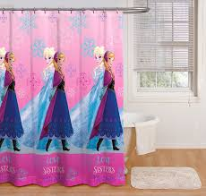 Pink Bathroom Sets Walmart by Disney Frozen Shower Curtain Pink Fabric Anna Elsa Kids Girls