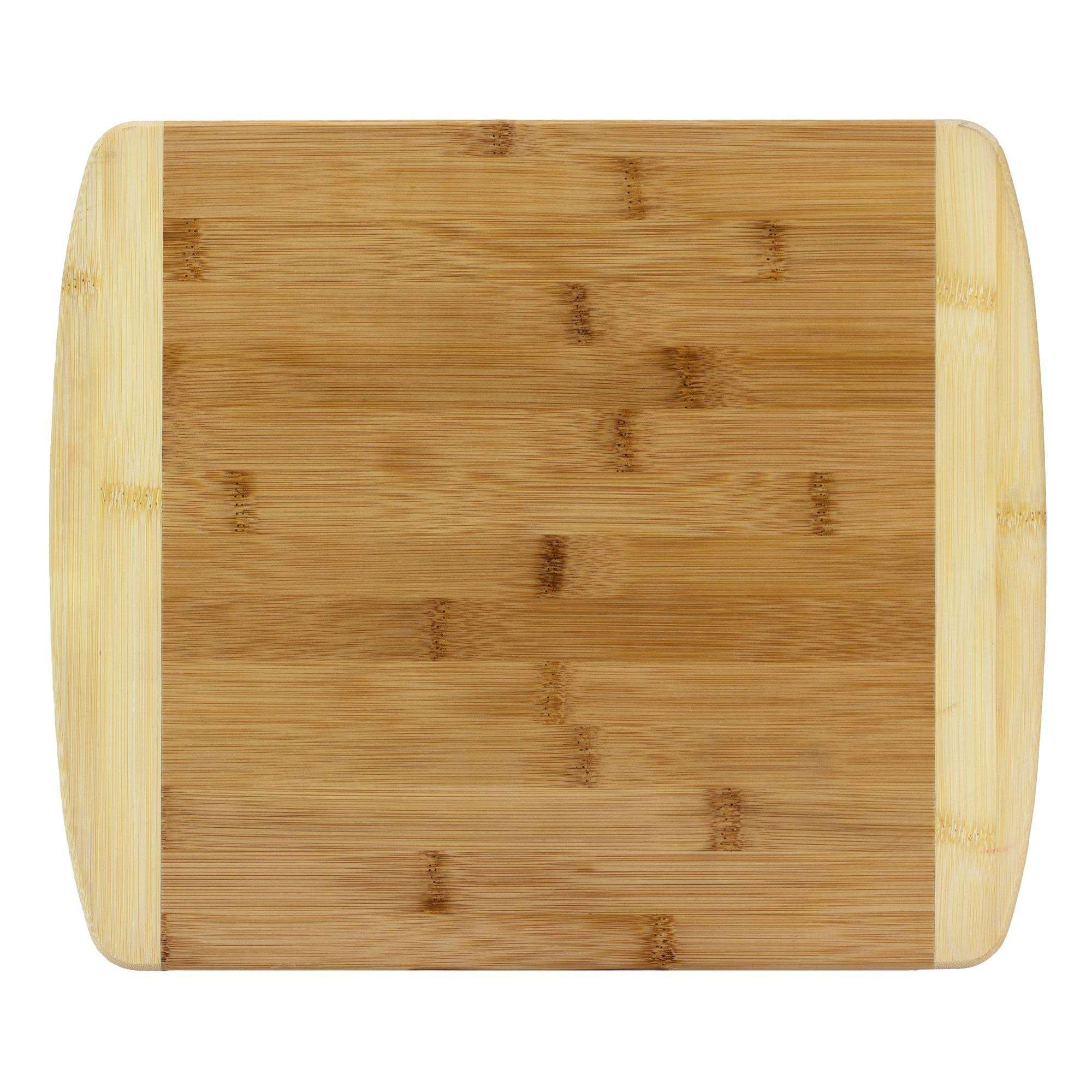 Totally Bamboo 2-Tone Cutting Board 13.5 inch x 11.5 inch