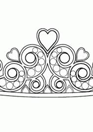 Pretty Diadem Coloring Page For Girls Printable Free Princess