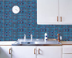 blue tile pattern contact paper peel and stick wallpaper
