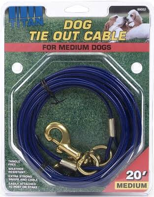 Coastal Pet Products Titan Tie Out Cable - Blue