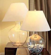 Fillable Glass Lamp Base by Table Lamps With Glass Base Vintage Blue Iridescent Threaded Glass