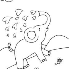 Coloring Pages Free Printable Elephant For Kids