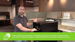 Hon File Cabinet Lock Replacement Instructions by How To Replace A Hon Filing Cabinet Drawer With Cradle Suspension