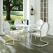 Home Bay White Metal 5 Piece Outdoor Dining Set With Inch Table ... Zuo Mayakoba White Stationary Alinum Outdoor Ding Chair 2pack Best Patio Fniture And Metal Garden Table Folding Lofty Clearance Epic Wrought Iron Sets Chair Lisa White Breeze Ding Chair Shiaril 5 Pc And Navy Set Setting Chairs Wicker Room Resin Modern Cushions Of 20 High Gloss By Andre Putman For Emeco Mamagreen Sr Hughes Grace 6 Seater Warehouse