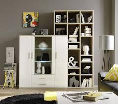 trendteam wohnzimmer highboard schrank vitrine arena 120 x 135 x 37 cm in korpus weiß front weiß hochglanz ober und unterboden eiche sägerau hell