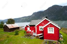 100 Houses In Norway Red Houses Eidflord Hardanger Flord