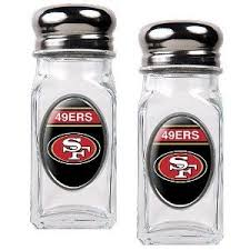 Amazon NFL San Francisco 49ers Salt And Pepper Shaker Set With Crystal Coat
