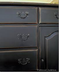 Antiquing Painted Furniture Black images