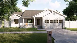 100 Modern One Story House Daniels 1 Farmhouse Plan