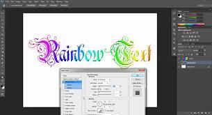Rainbow Text Tutorial Adobe shop CS6 CS5 CS4