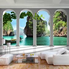 details zu vlies fototapete strand insel himmel troppen tapete wandbilder wohnzimmer 79