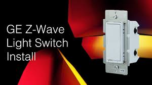 ge in wall smart switch install z wave