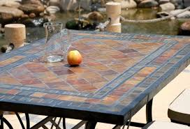 inspiring mosaic tile patio table dining room imposing design
