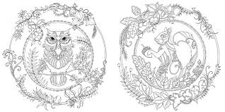 Enchanted Forest Coloring Book On Free Pages Of Garden