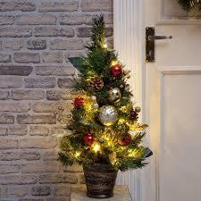 2ft Miniature Pre Lit Christmas Tree