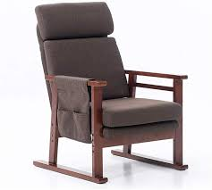 Adjustable Lazy Sofa Solid Rocking Chair Single Fabric Sofa Bedroom ...