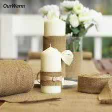 10M 15CM Burlap Ribbon Roll Natural Jute Hessian Burlap Table