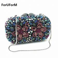 online buy wholesale black diamante clutch bag from china black