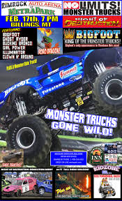 No Limits! Monster Truck Tour | Billings, MT — Monsters Monthly ... Monster Jam Truck Fails And Stunts Youtube Home Build Solid Axles Monster Truck Using 18 Transmission Page Best Of Grave Digger Jumps Crashes Accident Jtelly Adventures The Series A Chevy Tried An Epic Jump And Failed Miserably Powernation Search Has Off Road Brother Hilarious May 2017 Video Dailymotion 20 Redneck Trucks Bemethis Leaps Into The Coast Coliseum On Saturday Sunday My Wr01 Carbon Bigfoot Formerly Wild Dagger