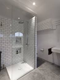 subway tile shower gray grout houzz