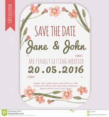 Vector Save The Date Card With Hand Drawn Vintage Daisy Flowers In Rustic Style