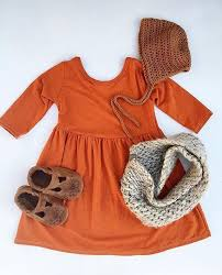 The Perfect Comfy Cozy Fall Outfit Find Our Rust Swing Dress At