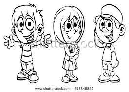 Coloring Page School Kid Series