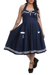 Motleys Pumpkin Patch by Hell Bunny Motley Sailor Navy Dress 2xl 4xl Topic