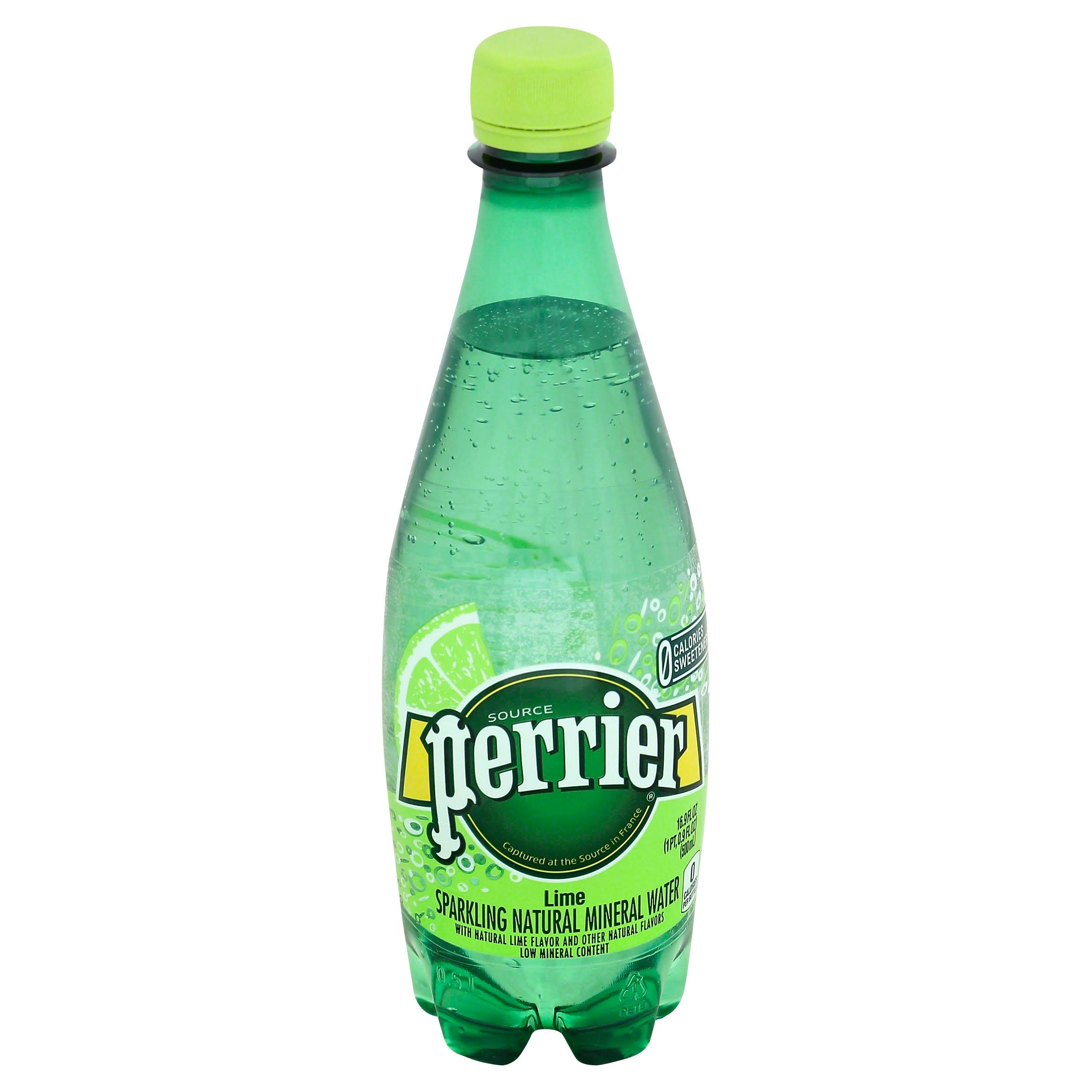 Perrier Sparkling Natural Mineral Water - Lemon Lime, 16.9oz