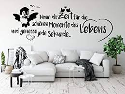 tjapalo pk224 wandtattoo nimm dir zeit für die schönen momente wandtattoo wohnzimmer spruch zitate wandsticker flur und diele farbe schwarz größe