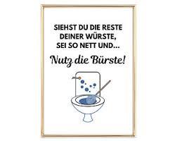 poster spruch toilette etsy