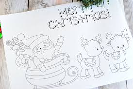 Santa And Reindeer Christmas Coloring Pages To Print