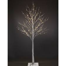 Patch Magic 7 Ft LED Lighted White Artificial Birch Christmas Tree With 120 LEDs