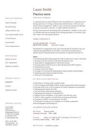 Nursing CV Template Nurse Resume Examples Sample Registered Resumes Healthcare Work Jobs