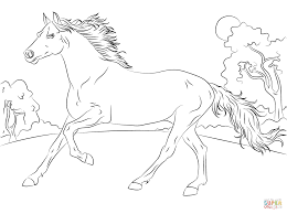 Click The Running Arabian Horse Coloring Pages To View Printable