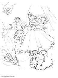Barbie Coloring Pages The Princess Popstar Inside And