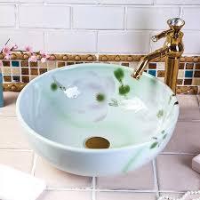 china vintage stil keramik kunst becken waschbecken arbeitsplatte waschbecken keramik handwaschbecken schrank badezimmer waschbecken