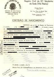French Birth Certificate Brazilian Portuguese