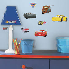 Wall Decor Stickers Walmart Canada by Roommates Disney Pixar Cars 3 Peel And Stick Wall Decals Walmart
