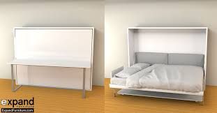 Ulisse Queen Murphy Wall Bed Desk Space Saving Beds For Plan 8